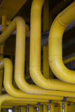 Plate-forme en mer de construction pour l'huile et le gaz de production, l'huile et l'industrie du gaz et le dur labeur, la plate Photographie stock libre de droits