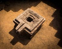 Plate-forme en pierre antique de Hidu Photo libre de droits