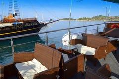 Plate-forme Grèce de bateau de croisière Photographie stock libre de droits