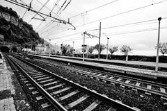 Plate-forme italienne de train Photographie stock