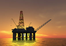 Plate-forme pétrolière Photo libre de droits