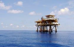 Plate-forme pétrolière dans le Golfe Photo libre de droits