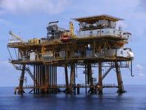 Plate-forme pétrolière dans le Golfe du Mexique Image libre de droits