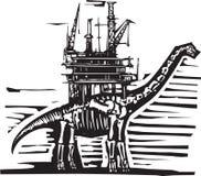 Plate-forme pétrolière de brontosaure Images stock