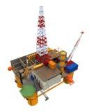 Plate-forme pétrolière de forage de plate-forme en mer Photographie stock
