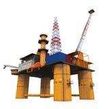 Plate-forme pétrolière de forage de plate-forme en mer Image libre de droits