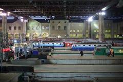Plate-forme pour des trains à la station de Kazan Photos stock
