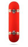 Plate-forme rouge de planche à roulettes sur le fond blanc, chemin d'isolement inclus photographie stock