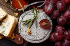 Plate of french cheeses Royalty Free Stock Image