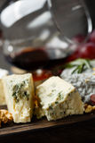 Plate of french cheeses close-up Royalty Free Stock Photography