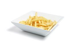 Plate of French Fries Stock Images