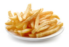 Plate of french fries Stock Image