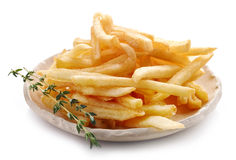 Plate of french fries Royalty Free Stock Photo