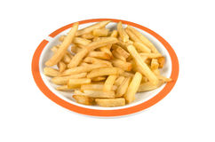 Plate with french fries. Royalty Free Stock Images