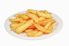 Plate with french fries. Royalty Free Stock Photos