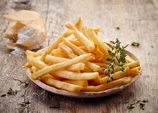 Plate of french fries Royalty Free Stock Photography