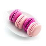 Plate of French Macaroons Royalty Free Stock Image