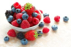 Plate with Fresh Berries Stock Photography