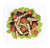 Plate of fresh caesar salad. Royalty Free Stock Photos