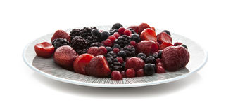 Plate of fresh fruit Stock Photos