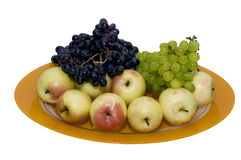The Plate of Fresh Fruits Stock Photography