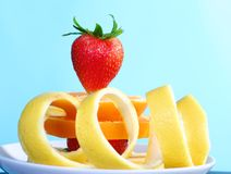 Plate of fresh fruits Royalty Free Stock Photo