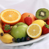Plate with fresh fruits Royalty Free Stock Image