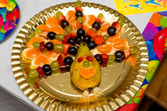 Plate with fresh fruits Stock Photography