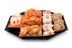 Plate with fresh meat fot Gourmet Stock Photos