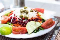 Plate Of Fresh Mixed Salads Royalty Free Stock Photos