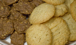 Plate of fresh oatmeal and almond cookies 22. Photo image of a plate of fresh cookies Royalty Free Stock Photography