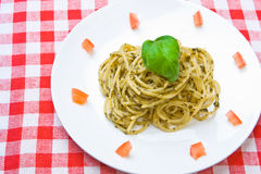 Plate of fresh spaghetti Stock Photography