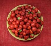 Plate of fresh strawberies. Vitamins, diet, health royalty free stock image