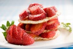 Plate of fresh strawberries Royalty Free Stock Photo