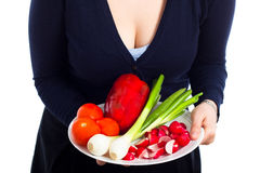 Plate with fresh vegetable Royalty Free Stock Image