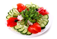 Plate of fresh vegetables Stock Image