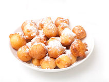 Plate of freshly-baked donuts Royalty Free Stock Photo
