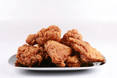 Plate of fried chicken Royalty Free Stock Images