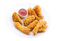 Plate of fried chicken Royalty Free Stock Photography