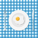 Plate with fried egg icon Royalty Free Stock Photos