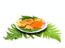 Plate with fried fish Royalty Free Stock Photo
