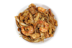 Plate of Fried Noodles Royalty Free Stock Photos