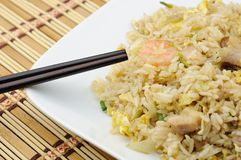 Plate of fried rice Royalty Free Stock Photo