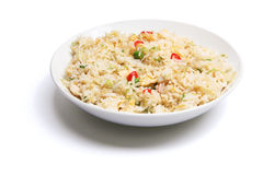 Plate of Fried Rice Royalty Free Stock Photos