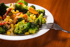 Plate with fried vegetables Royalty Free Stock Photography