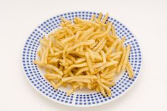 Plate Of Fries royalty free stock photos