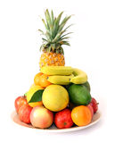 Plate of fruit Royalty Free Stock Photography