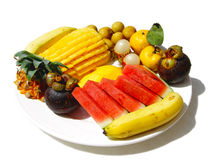 A plate with fruit Royalty Free Stock Photography