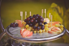 Plate of fruit royalty free stock images
