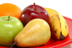 Plate of fruit royalty free stock photo